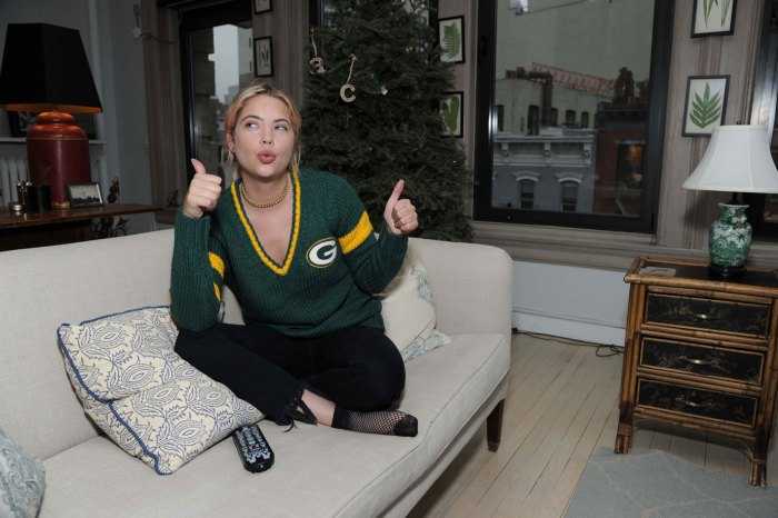 Ashley Benson Cheering on the Packers