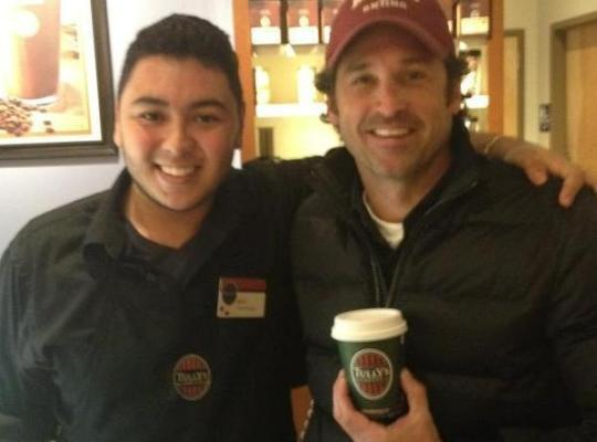Patrick Dempsey at Tully's