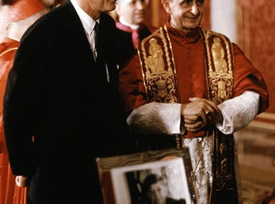 President John F. Kennedy meeting Pope Paul