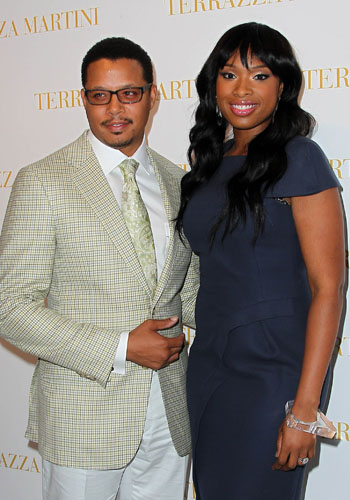 Terrence Howard and Jennifer Hudson at <i>Winnie</i> press conference