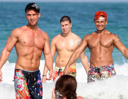 The Situation, Vinny and Pauly D from <i>Jersey Shore</i>