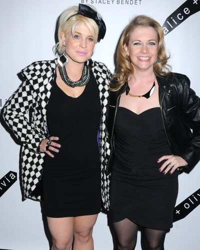 Kelly Osbourne and Melissa Joan Hart at the alice + olivia show and after party