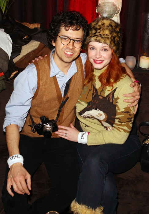 <I>Mad Men</i>'s Christina Hendricks and husband Geoffrey Arend at<br> T-Mobile Presents Google Music at Tao.
