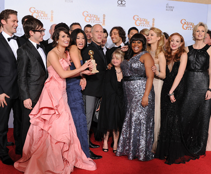 The cast of <I>Glee</i>