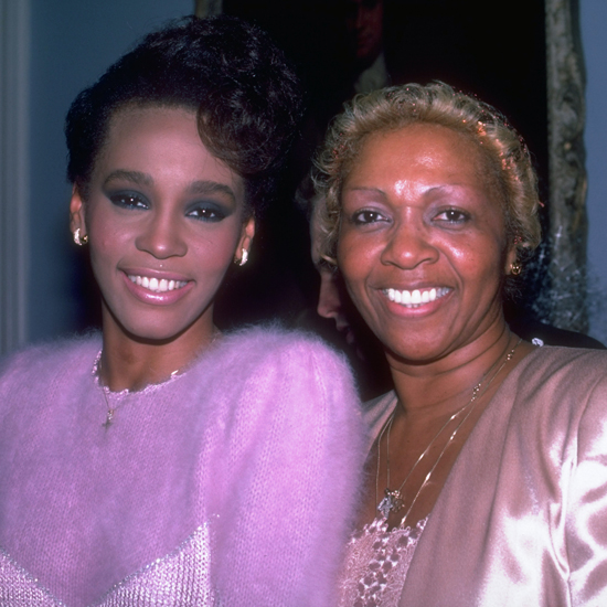 Whitney with her mother, Cissy, in 1984.