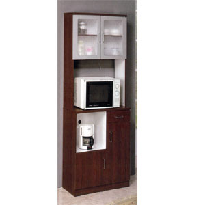 Microwave Cabinet Kitchen Cabinet With Fiber Glass Door