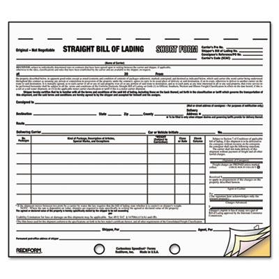 Blank Straight Bill Of Lading - Fiveoutsiders - blank straight bill of lading