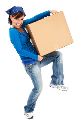 Nationwide Storage - removals woman box moving house