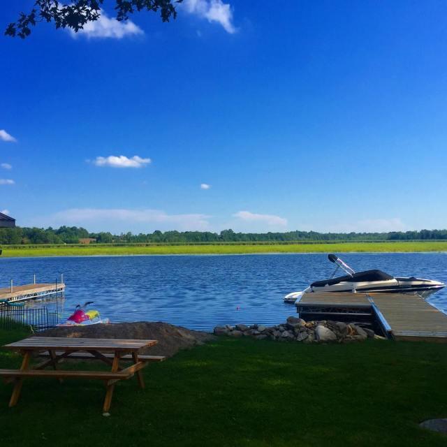 Blue waters and blue skies in ennismore ontario  Summerhellip
