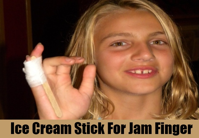 Ice Cream Stick For Jam Finger