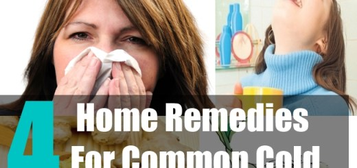 4 Home Remedies For Common Cold