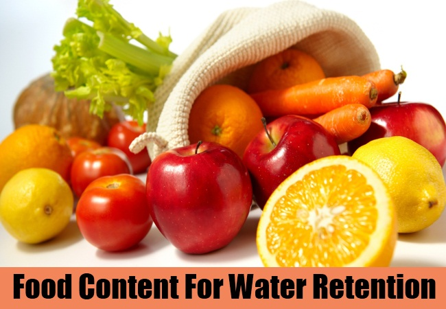 Water Retaining Food : Home remedies for water retention natural treatments
