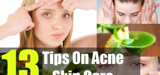 13 Tips On Acne Skin Care