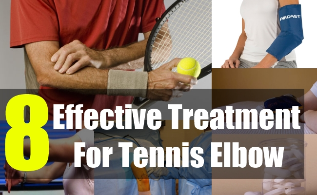 What are some treatments for tennis elbow?