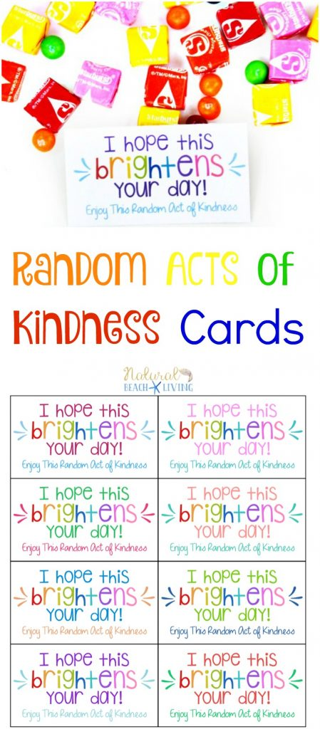 The Best Random Acts of Kindness Printable Cards Free - Natural - free printable christmas card maker