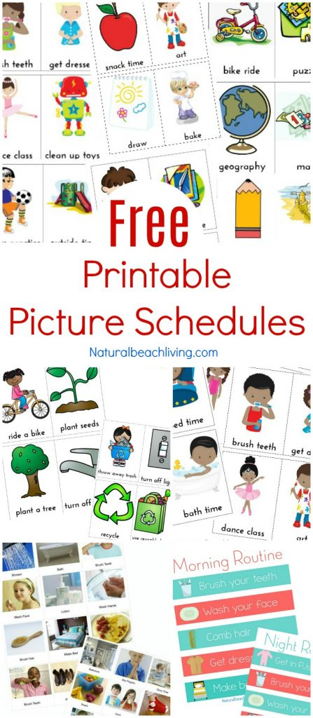 Free Printable Picture Schedule Cards - Visual Schedule Printables