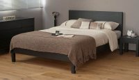 Black Wood Bed | Malabar Contemporary Bed | Natural Bed