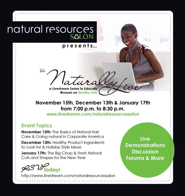 Naturally Live Flier Live Natural Hair Chat   Big Chop & Fresh Cuts