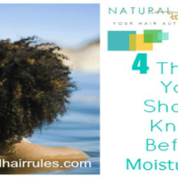 4 Things You Should Know Before Moisturizing Natural Hair