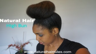 Natural Hair High Bun