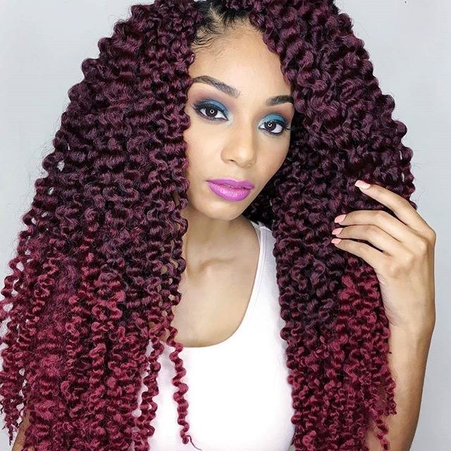 Crochet Hair Untwisted : Cubic Twist hair comes in quite a few colors from jet black to various ...