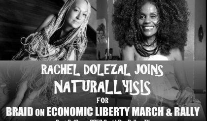 Rachel Dolezal Joins Isis Brantley's Natural Hair Rally