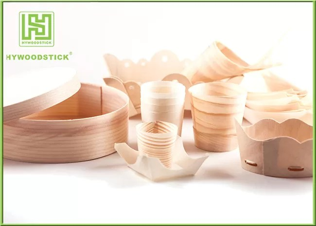 Pine / Poplar Wooden Sushi Boat / Cups For Restaurant Different