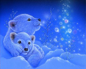 Cute White Baby Rabbits Wallpapers Polar Bear Painting Art By Kentaro Nishino