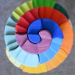 Toy review: Grimm's counter rotating stepping spiral blocks