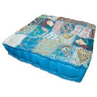Square Khambadia Pattern Meditation Pillows - Assorted