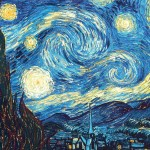 A Starry Starry Night or The Unexpected Maths in a Van Gogh's Masterpiece