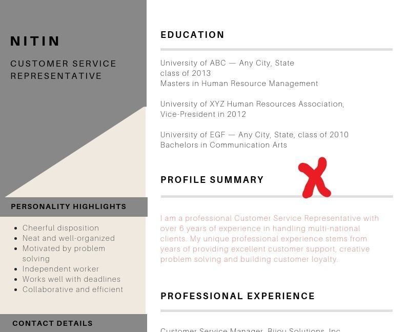 resume format for experienced kpo professional