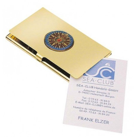 Business card case compass rose - Nautic-Gifts