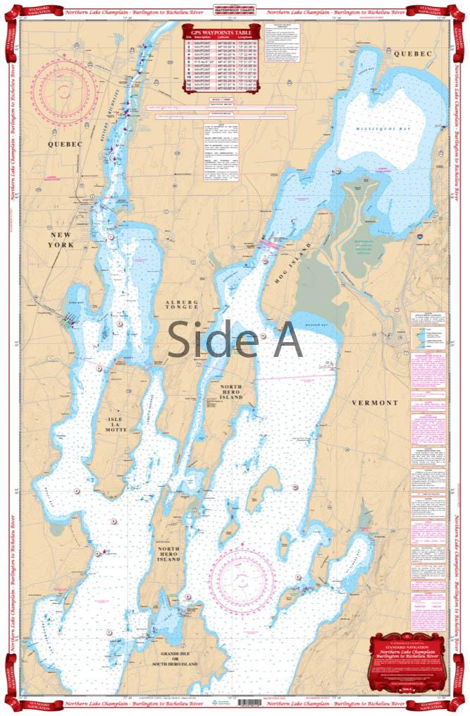 Hudson River and Lake Champlain Waterproof Charts Navigation and