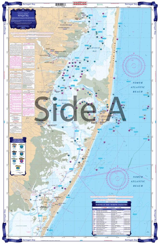 Narragansett Bay to Block Island Sound Coastal Fishing Chart 50F