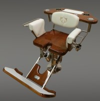 Teak and Gloss Fighting Chair