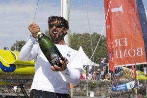 Yoann Richomme (Skipper Macif 2014), vainqueur d'une Solitaire Bompard Le Figaro de « dingue »