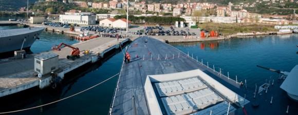 Andrea Doria de volta a Spezia - foto Marina Militare