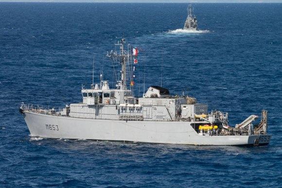 caça-minas francês Capricorne no Brilliant Mariner 2013 da OTAN - foto Marinha Italiana