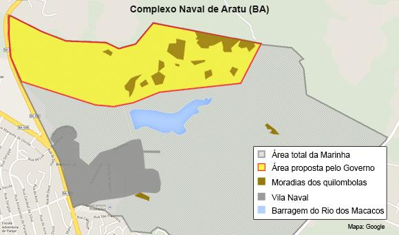 Mapa dos Quilombolas 580