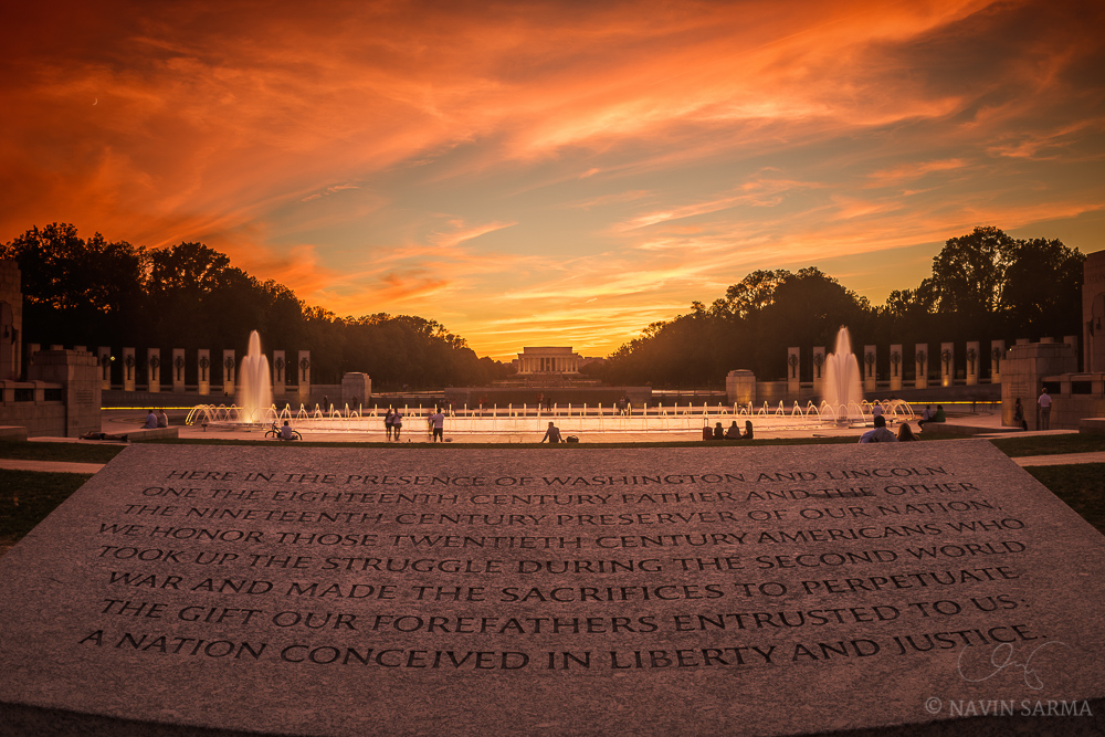 Fall Evening Wallpapers The Crescent Moon And A Glorious Sunset In Dc Navin Sarma