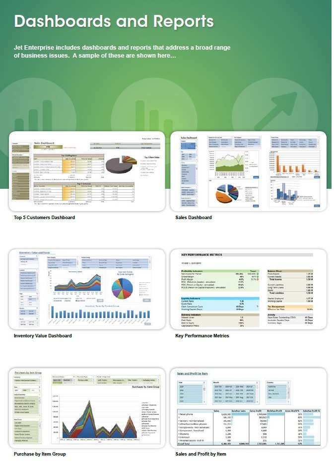 Jet Enterprise \u2014 Managerial information systems MIS, BI \u2014 NAVISYSbiz