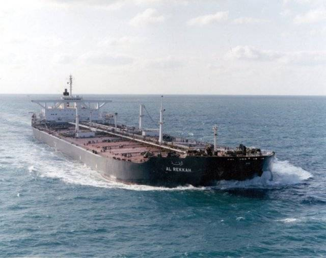 The Kuwaiti tanker Al Rekkah was renamed the USS Bridgeton and reflagged as a U.S. ship. (U.S. Navy photo)