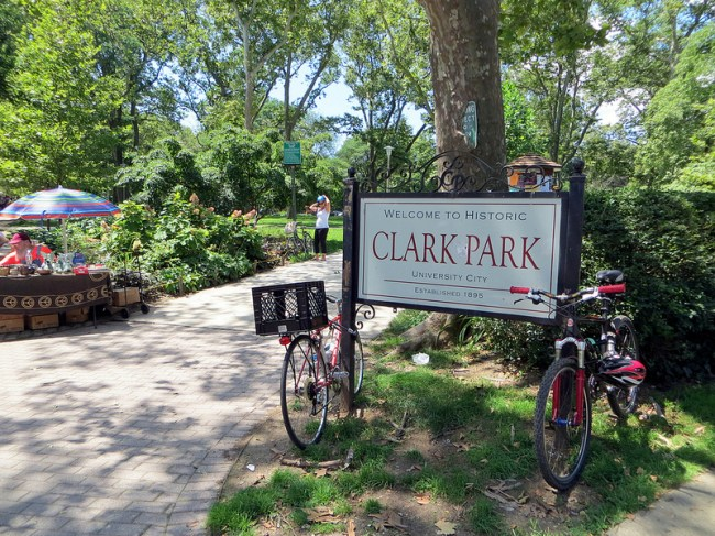 Entrance to Clark Park, 42nd & Baltimore (Simon/Flickr)