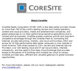 CoreSite Facilities Technician