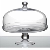Glass cake stand and lid