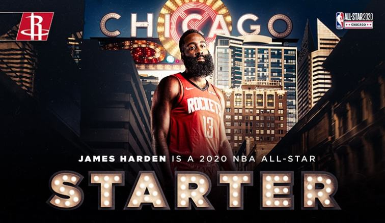 James Harden Voted As Starter For 2020 Nba All Star Game