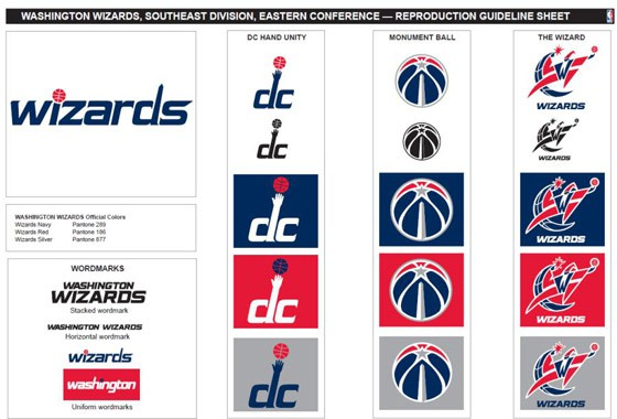 Nuevos logotipos de los Washington Wizards