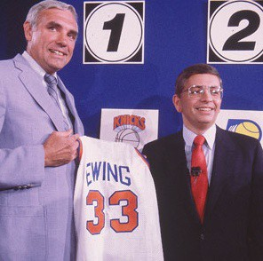 loteria Draft NBA 1985 Knicks Ewing Stern