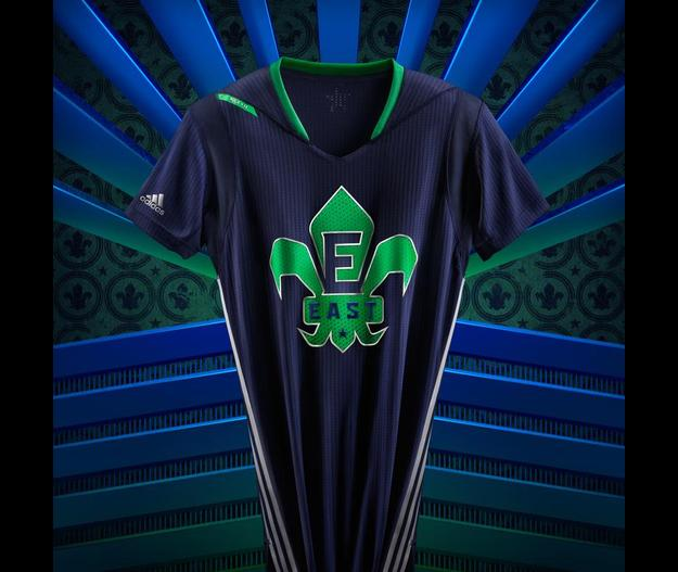 camisetas NBA All-Star 2014 adidas mangas 11